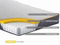mattress 24 7 4ft6 birlea sleepsoul comfort 800