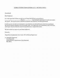 Layoff Letter Free 3 Layoff Notice Forms In Pdf Ms Word