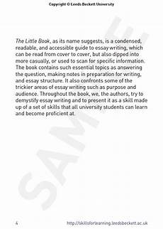 Essay On A Movie Preview Of The Little Book Of Essay Writing
