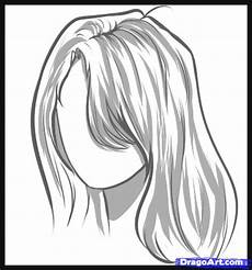 how to draw hair step by step hair free