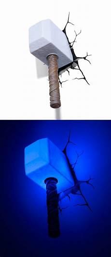 Mjolnir Night Light Superhero Home Decor For Themed Rooms Amp Parties