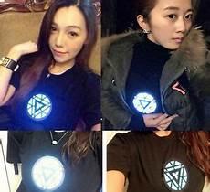 Tony Stark Light Up Led Iron Man T Shirt Iron Man Tony Stark Light Up Shining Led Black T Shirt