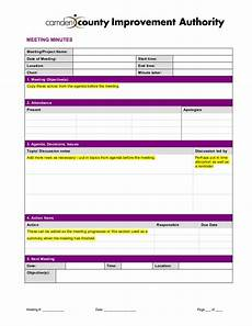 Meeting Minutes Notes Template Meeting Minutes Template 2