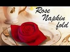 Rose Folding Rose Napkin Fold Diy Youtube