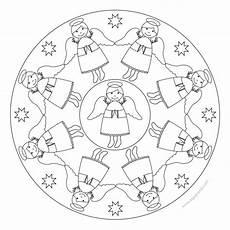 Mandala Engel Malvorlagen Engel Mandala 3 F 252 R Kindergarten Kita Und Schule