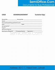 Acknowledgement Of Receipt Sample Acknowledgement Receipt Template