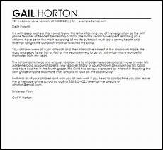 Letter Of Resignation To Parents From Teacher Teacher Resignation Letter Example To Parents Letter