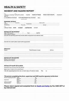 Eiu Incident Report Free 13 Hazard Report Forms In Ms Word Pdf