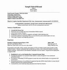 Federal Resume Samples Federal Resume Template 8 Free Word Excel Pdf Format