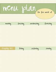Menu Planner Template Meal Planning Template Free Download Live Craft Eat