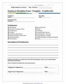 Absenteeism Report Template Employee Misconduct Form Template Write Up Templates Free