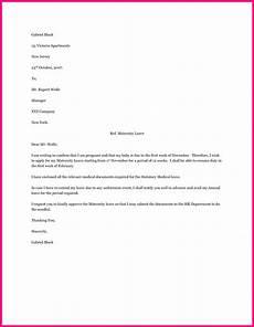 Sample Maternity Letter Employee Maternity Leave Letter Sample Application Format