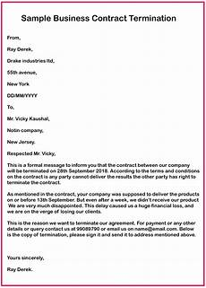 Notice Of Termination Of Contract 7 Business Contract Termination Letter Samples How To Wiki