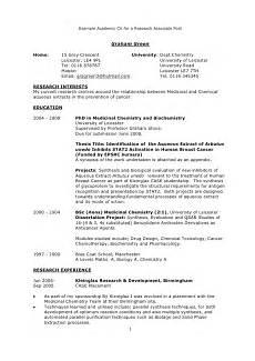 Academic Cv Format Download Example Academic Cv