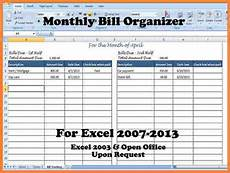 Online Bill Organizer Spreadsheet 3 Bill Spreadsheet Organizer Budget Spreadsheet