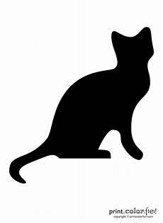Malvorlage Schwarze Katze Pumpkin Carving Stencil Black Cat Coloring Page Print