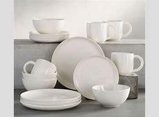 Joshua 16 Piece Dinnerware Set   Ivory White   Pottery Barn