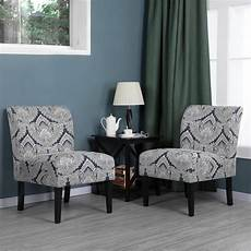 yaheetech accent chair armless chair dining chair set of 2