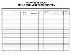 Inventory Checkout Form Best Photos Of Check Out Form Template Jail Equipment