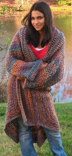 crocheted sweater coat in painted desert one size fits most