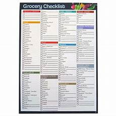 Grocery Shopping Checklist A4 Grocery Shopping Checklist Organiser Notepad 75