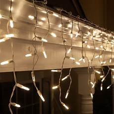 Warm White Christmas Lights Outdoor Led Christmas Lights 70 M5 Warm White Led Icicle Lights
