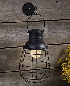 Caged Patio Lights Solar Caged Industrial Rustic Wall Mounted Outdoor Patio