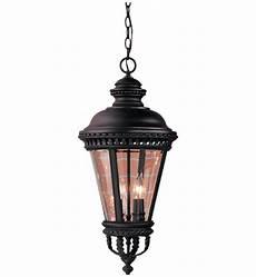 Outdoor Pendant Lighting Lamps Com Feiss Ol1911bk Castle Black 4 Light Outdoor