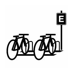 bicycle parking icons free vector icons noun