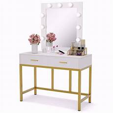 tribesigns vanity table with lighted mirror makeup