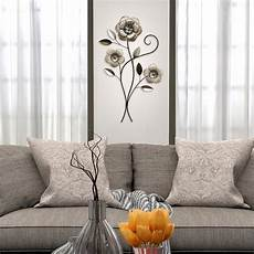 stratton home decor headed metal simple flower wall