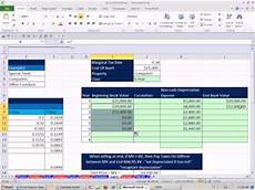 Macrs Excel Excel Finance Class 85 Macrs Depreciation Amp Asset Sale