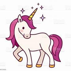 unicorn with purple mane simple vector