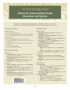 Latin Syntax Chart Charts For Intermediate Greek Grammar And Syntax A Quick