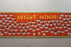 Light Bulb Bulletin Board Quot Bright Minds Quot Using Light Bulb Cutouts Light Bulb Wall