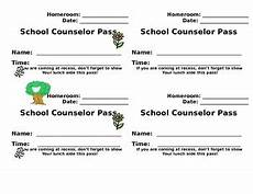 Student Pass Template School Counselor Student Pass Template Tpt