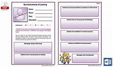 Record Of Achievement Template My Achievements Of Learning Report Aussie Childcare Network