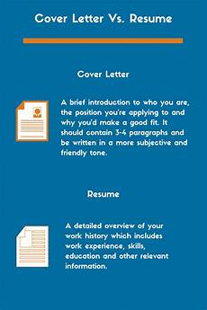 Cover Letter Vs Resume The Difference Between A Cover Letter And Resume Zipjob