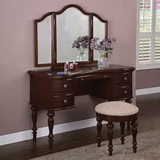 Bedroom Vanity Furniture Marquis Cherry Bedroom Vanity Makeup Station Table Mirror