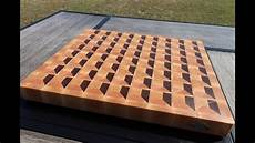 Cutting Board Design Plans Making One Of Mtm Wood S 3d End Grain Cutting Board