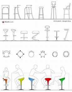 sgabello dwg sgabelli 2d sgabello dwg stools drawings