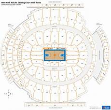 Square Garden Seating Chart With Rows Square Garden Seating For Knicks Games
