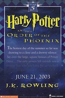 Harry Potter 5 Harry Potter And The Order Of The Phoenix