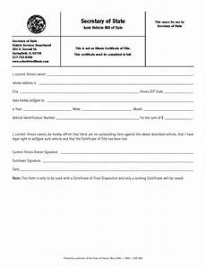 Vehicle Bill Of Sale Illinois Download Free Business Forms Form Download