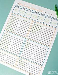 Normal Grocery List Free Grocery List Printables 3 Colors 4 Real