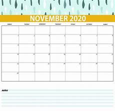 November 2020 Calendar Printable Best Monthly 2020 Calendar Latest Calendar