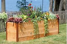 elevated cedar raised garden beds the green