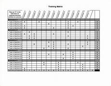 Training Tracker Excel Template Employee Training Matrix Template Excel Task List Templates