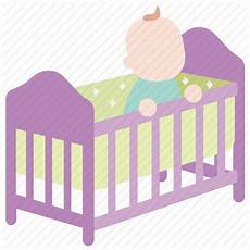 baby bassinet bed cot crib infant toddler icon