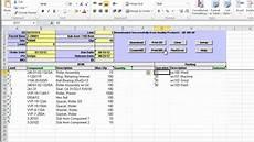 Bom List Format Dynamic Bom Excel Loader For Qad 32soft Youtube